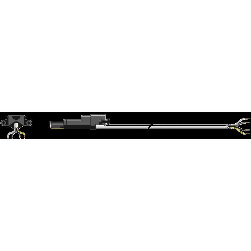 Cable électrique Blanc pour moteur filaire Somfy 5 M