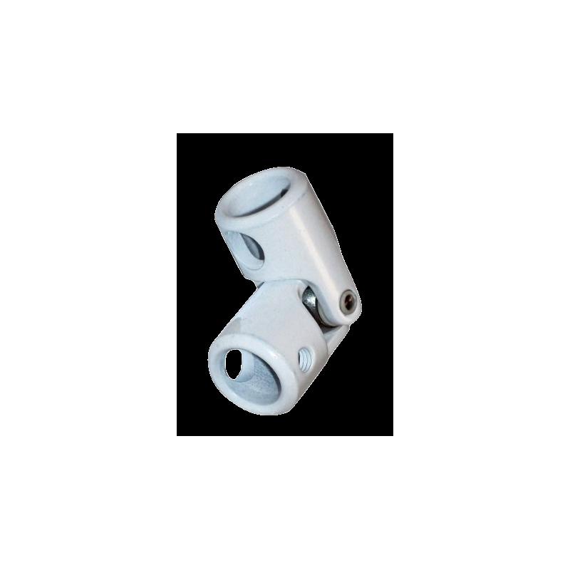 Genouillère acier  diam. 12 / diam. 12 Blanc