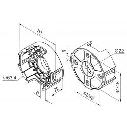 Support moteur Nice série ERA diam. 45 - Tradi (entraxes 44 - 48)