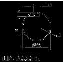 Adaptations moteur Nice série ERA diam. 45 et tube Deprat diam. 62 mm rainuré et tube Welser diam. 63 mm rainuré