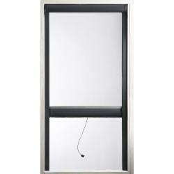 Vertigo - Kit moustiquaire enroulable à recouper - 1200 x 1400 mm - Gris 7016