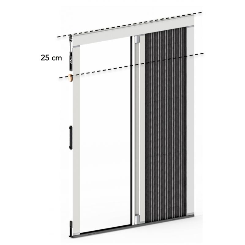 Plisseo - Kit moustiquaire plissée 1 vantail à recouper - 1400 x 1150 mm - Blanc
