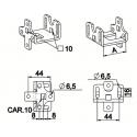 Support moteur déporté - pour carré de 10 et coussinet à broche