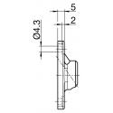 Sortie 45° PVC 52x26 - Entrée mâle 12 - Tige C6 L 160