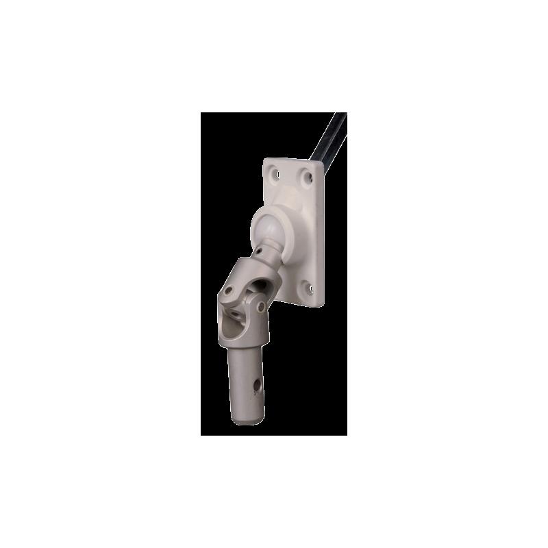 Sortie 45° PVC 52x26 - Entrée mâle 12 - Tige C6 L 300