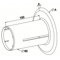 Flasque de guidage pour tube ZF54 diam. 160 mm