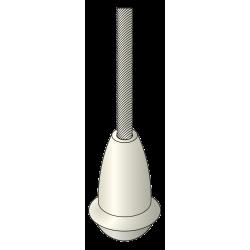 Gland cache noeud - PVC Blanc