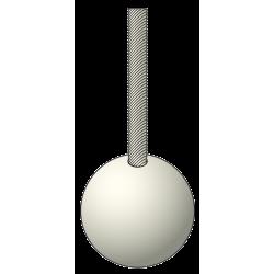 Boule cache noeud - PVC Blanc