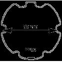 Adaptations pour moteur Somfy Diam. 60 et tube ZF80