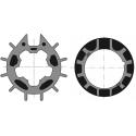 Adaptations moteur Somfy diam. 50 et tube canelé Simbac diam. 70 à goutte