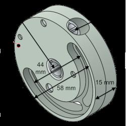 Treuil 1415 - Diam. 58 - Entrée 6p6 Sortie carré 7 mm SFC (1/2,8)
