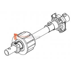 Embout télescopique pour tubes Octo 60 ou Deprat 62, Tube rond diam. 16, L220
