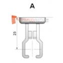 Bloqueur en PVC Blanc pour manivelle de volet roulant de ∅ 12 à 17 mm