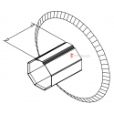 Flasque de guidage pour tube octo 40 diam. 164 mm