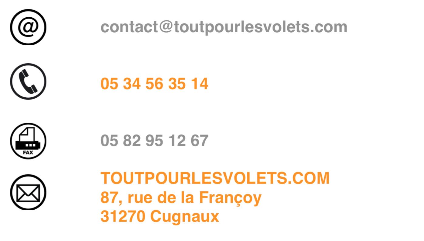 Contacter Toutpourlesvolets.com