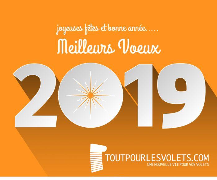 Toutpourlesvolets.com vous souhaite le meilleur pour 2019 !